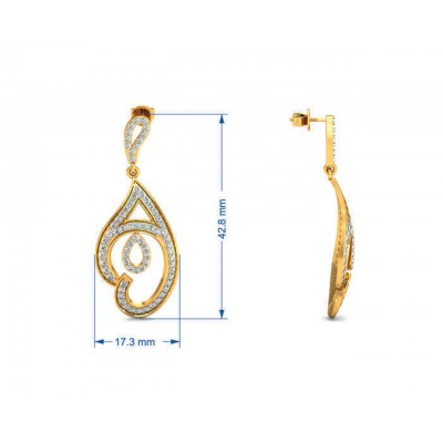 Tamira Long Diamond Earrings